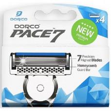 DORCO PACE7 4'S, сменные кассеты с семью лезвиями
