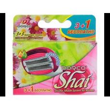 DORCO SHAI Sweetie (3+1 в ПОДАРОК!)'S, сменные кассеты с шестью лезвиями и сгибаемым картриджем