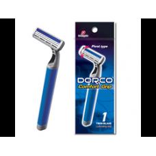 DORCO TG-820, однораз. ст. 1 шт, плав. головка с 2 лезвиями и увл. полосой, прорезин. ручка