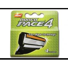 DORCO PACE4 4'S, сменные кассеты с четырьмя лезвиями